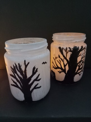 DIY Light Up Halloween Jar